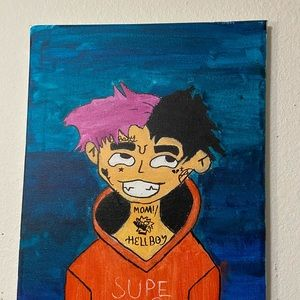 hand painted lil peep painting
